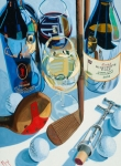 Oil Wine Paintings - The Nineteenth Hole  by Christopher Mize