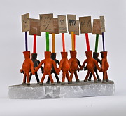 Political  Sculptures - The Ninety-Nine Percent by Jacqueline Cappadora