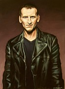 Television Paintings - The Ninth Doctor by Emily Jones