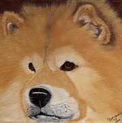 Canine Paintings - The Noble Chow by Debbie LaFrance