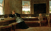 Sat Paintings - The Noon Recess by Winslow Homer