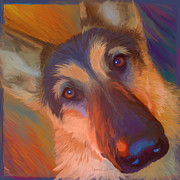 Police Dog Prints - The Nose Print by Laurie Cook