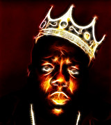 Paul Ward Metal Prints - The Notorious B.I.G. - Biggie Smalls Metal Print by Paul Ward