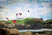 Neddick Framed Prints - The Nubble Framed Print by Darren Fisher