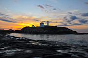 Sohier Park Framed Prints - The Nubble Light Framed Print by Catherine Easton