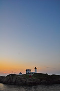 Southern Maine Posters - The Nubble Lighthouse Poster by Catherine Easton