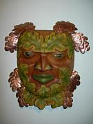 Leaf Reliefs - The Oak King by Shane  Tweten
