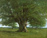 Oak Tree Paintings - The Oak of Flagey by Gustave Courbet