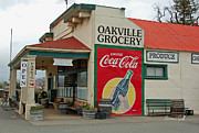 Benches Prints - The Oakville Grocery Print by Suzanne Gaff