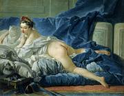 Prostitute Posters - The Odalisque Poster by Francois Boucher