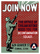 Wpa Framed Prints - The Office Of Civilian Defense Needs You Framed Print by War Is Hell Store