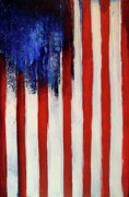 4th July Mixed Media - The Ogden Flag by Charles Jos Biviano