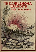 Novels Posters - The Oklahoma Bandits. The Daltons Poster by Everett