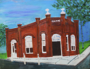 Ville Platte Prints - The Old Bank Print by Swabby Soileau