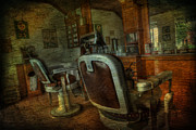 Metal Pole Photos - The Old Barbershop - vintage - nostalgia by Lee Dos Santos