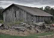 Country Scenes Prints - The Old Barn Print by Reb Frost