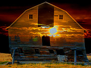 Stuart Turnbull Art - The old barn by Stuart Turnbull