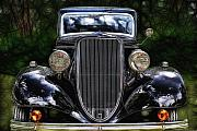 Limousine Framed Prints - The Old Black One Framed Print by Joachim G Pinkawa