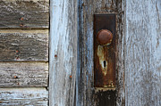 Door Knob Prints - The Old Blue Door Print by Bob Christopher