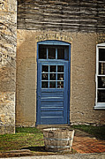Cedarburg Prints - The Old Blue Door Print by Mary Machare