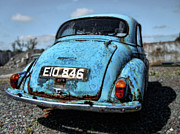 Julie Williams Metal Prints - The Old Blue Morris Metal Print by Julie Williams