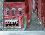 Boxs Framed Prints - The Old Brick Candy Store Framed Print by Gordon Wendling