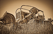 Horse And Buggy Prints - The Old Bulldozer Print by Steve McKinzie
