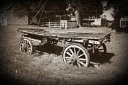 Stephen Clarridge Metal Prints - The Old Cart Metal Print by Stephen Clarridge