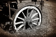 Stephen Clarridge Metal Prints - The Old Cart Wheel Metal Print by Stephen Clarridge