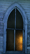 Left Behind Prints - The Old Church Window Print by Terril Heilman
