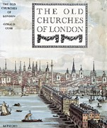 The Houses Posters - The Old Churches Of London, 1942 Book Poster by General Research Divisionnew York Public Library