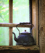 Cabin Window Photos - The Old Coffee Pot by Steve McKinzie
