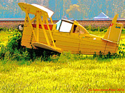 Skagit Digital Art - The Old Crop-duster by Tobeimean Peter