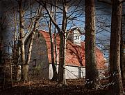 Old Barns Prints - The Old Dairy Barn Print by Terry Kirkland Cook