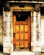 Stone Digital Art Originals - The Old Door by Reb Frost