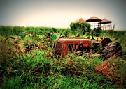 Rusty Tractor Tires Acrylic Prints - The Old Farm 2 Acrylic Print by Perry Webster