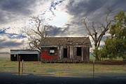 Dilapidated Houses Posters - The Old Farm House In My Dreams Poster by Wingsdomain Art and Photography
