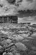 Shack Prints - The Old Fishermans Hut bw Print by Heiko Koehrer-Wagner