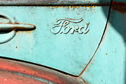 Old Ford Prints - The Old Ford Jalopy . Nostalgia In Abstract . 7D12892 Print by Wingsdomain Art and Photography