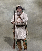 Militiaman Posters - The Old Frontiersman   Poster by Randy Steele