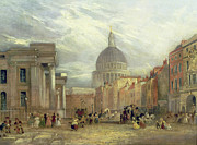 St Paul Prints - The Old General Post Office and St. Martins-le-Grand Print by George Sidney Shepherd