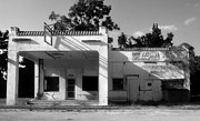Old Florida Prints - The Old Greyhound Station Print by David Lee Thompson