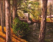 Grist Mill Paintings - The Old Grist Mill by Laurie Golden