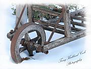 Farm Wagon Framed Prints - The Old Hay Cart Framed Print by Terry Kirkland Cook