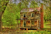 Decaying Digital Art Prints - The Old Home Place Print by Dan Stone