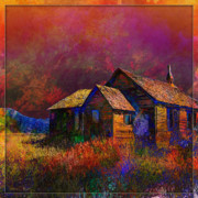 Rural Decay  Digital Art - The Old Homestead by Barbara Berney