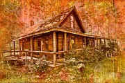 Appalachian Cabin Posters - The Old Homestead Poster by Debra and Dave Vanderlaan