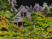 Decaying Digital Art Prints - The Old Homestead Print by Joyce Dickens