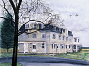Ducks Paintings - The Old Hotel by Tom Dorsz
