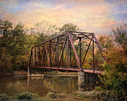 Autumn Landscape Photo Framed Prints - The Old Iron Bridge Framed Print by Jai Johnson